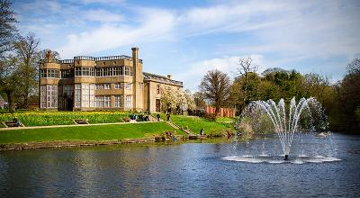 image of Astley Hall and the lake close by